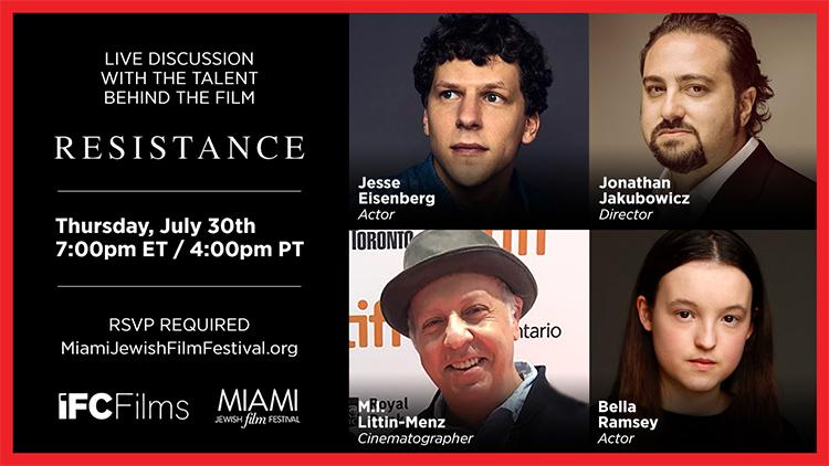 Virtual Speaker Series: Cast & Crew of 'Resistance'
