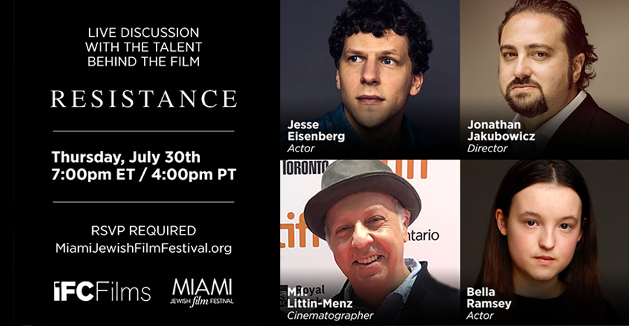 "Live Discussion with the Talent Behind the Film ""Resistance"""